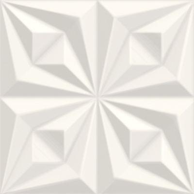 Revestimento Drapeado REF-66071 58x58cm Caixa com 2 Peças Branco