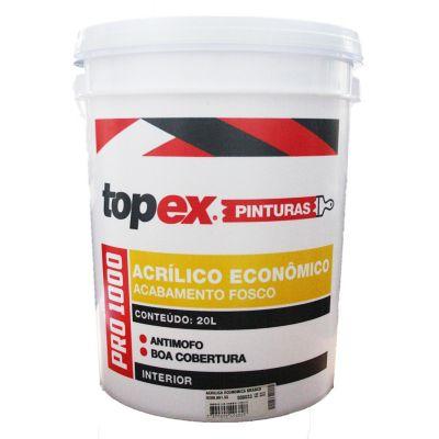 Tinta Acrílica Fosco Pro 1000 Econômico 20L Branco