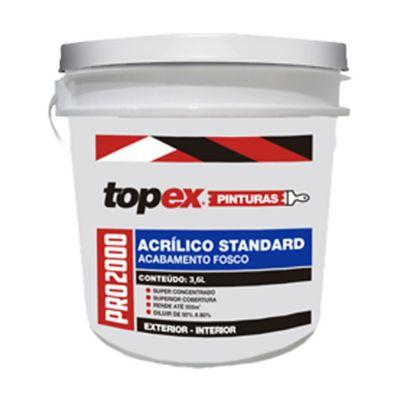 Topex 2000 Tinta Acrílica Standard Fosco 3,6 Litros Branco