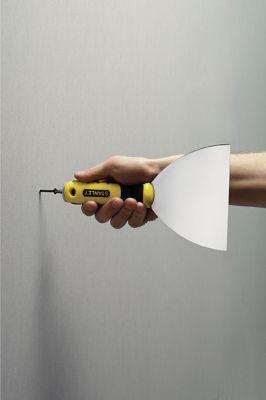 Espátula Inox para Drywall com Fenda Cruz Amarelo e Preto Stanley