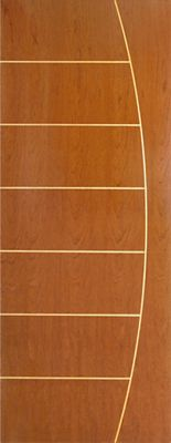 Folha de Porta Madeira Sarrafeada Curupixá Natural 210x72x3,5cm Fenix 4022/6