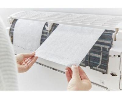 Filtro para Ar Condicionado Split Parede 28x20cm Branco