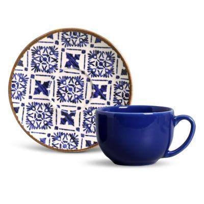 Xícara de Chá Coup Asteca 15,5x7cm Colorido