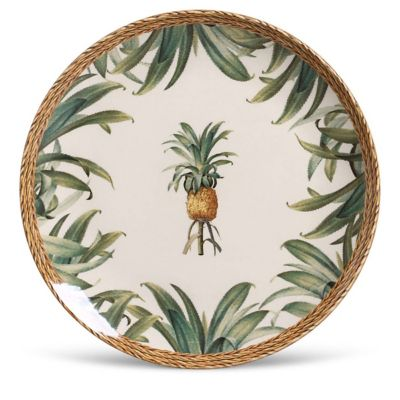 Prato Raso Coup Pineapple Natural 27x3cm Colorido