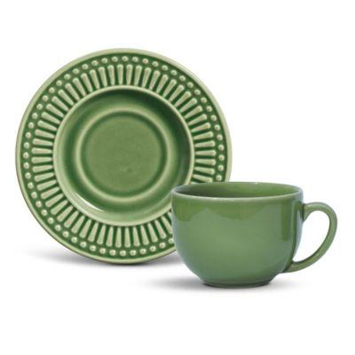 Xícara de Chá Roma 13,5x6cm Verde Sálvia