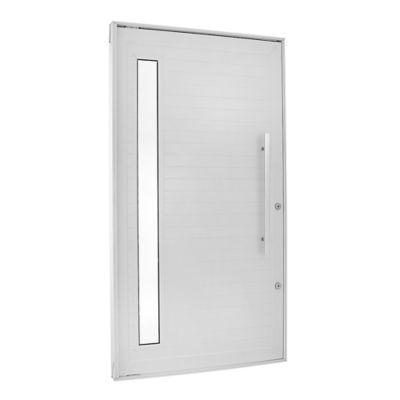 Porta Pivotante e Visor Alumínio Branco Direita 220x100x8,6cm Topsul