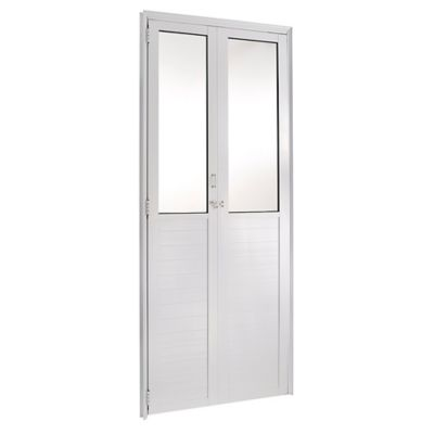 Porta Camarão e Vidro Alumínio Branco Direita 210x80x6cm Fortsul