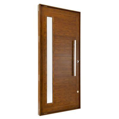 Porta Pivotante e Visor Alumínio Cerejeira Esquerda 220x120x8,6cm Topsul
