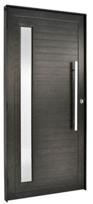 Porta Lambri e Visor Alumínio Preto Direita 210x90x8,6cm Topsul
