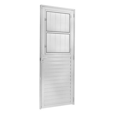 Porta Postigo Alumínio Branco Direita 210x80x6cm Fortsul