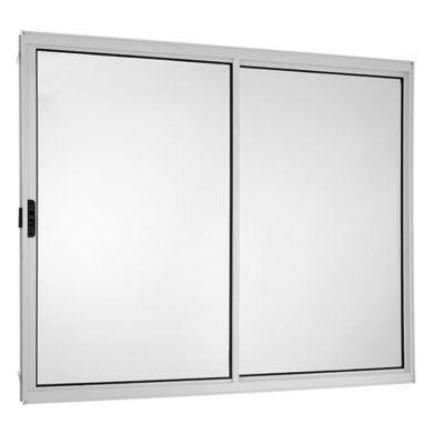 Janela de Correr Alumínio Branco 2 Folhas Esquerda 100x100x5cm Ecosul