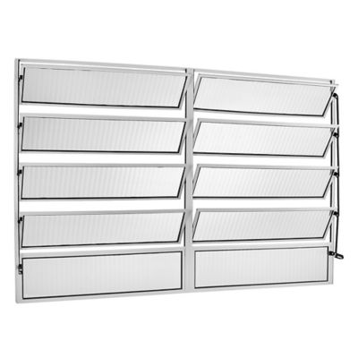 Janela Basculante 8 Basc Alumínio Branco 100x200x2,5cm Ecosul