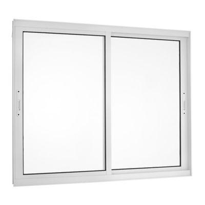 Janela de Correr Alumínio Branco 2 Folhas Móveis 100x150x8,6cm Topsul