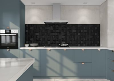 Revestimento Natural Space Block Black 20x20cm Retificado Preto