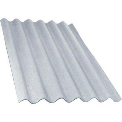 Telha de Fibrocimento Ondulada 3,66x1,10x6mm Cinza