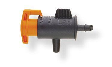 Gotejador Barrel Ajustável 0 a 8L/H Fim de Linha Laranja e Preto