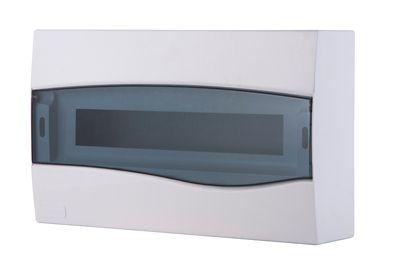 Quadro Sobrepor Branco Porta Transparente Para 18 Disjuntores