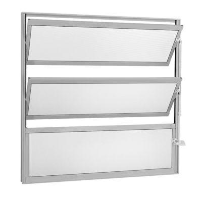 Janela Basculante 2 Basc Alumínio Branco 60x40x2,5cm Fortsul