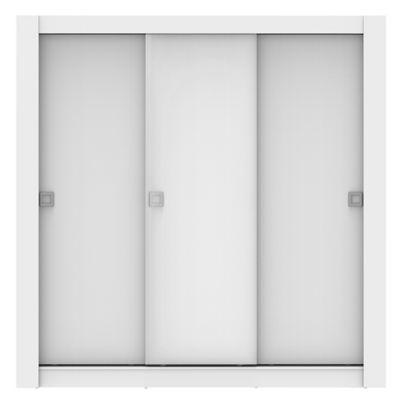 Roupeiro Campos 205x200x56cm 3 Portas MDP Branco