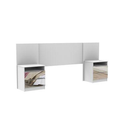 Cabeceira Supremo 100x260x41cm com Espelho MDP Branco