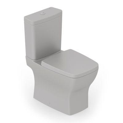 Kit Completo Bacia com Caixa Boss com Assento e Fixação 84x44x41cm Cinza Fosco