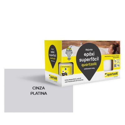 Rejunte epoxi Superfacil 1kg  Cinza Platina