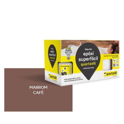 Rejunte epoxi Superfacil 1kg  Marrom Café
