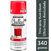 Tinta Spray Chalked 340G Efeito Giz/Aveludado Ultra Fosco Vermelho Campestre Rust-Oleum
