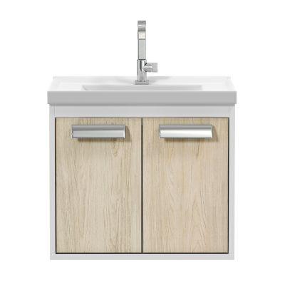 Gabinete para Banheiro com Cuba e Espelheira Rigel 50cm Branco Berlin