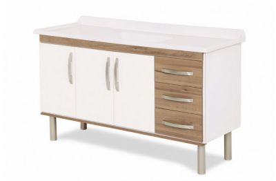Gabinete para Cozinha Munique 144,2cm Nogal