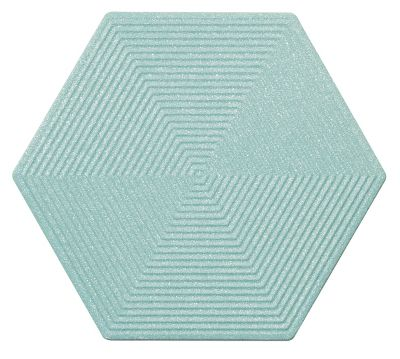Revestimento Love Hexa BL Brilhante Retificado 17,4x17,4cm Azul