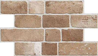 Piso Camel Bricks Terra 31x54cm Caixa 1,29m² Tijolo