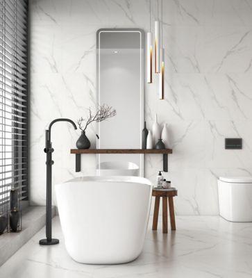 Piso Classic Marmo 53x53cm Caixa 2,53m² Retificado Branco e Marrom