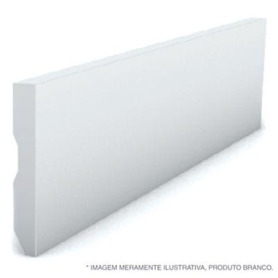 Rodape Liso Reto Branco 7X240X1,3Cm Poliestireno Ref 589 Rp