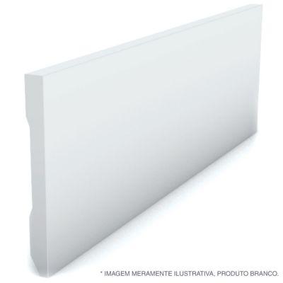 Rodape Liso Reto Branco 10X240X1,3Cm Poliestireno Ref 590 Rp