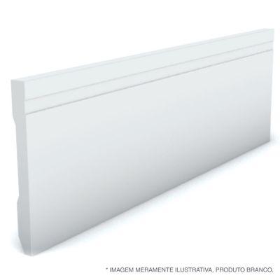 Rodape Frisado Reto Branco 10X240X1,3Cm Poliestireno Ref 594