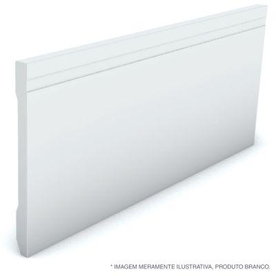 Rodape Frisado Reto Branco 13X240X1,3Cm Poliestireno Ref 595 Rp