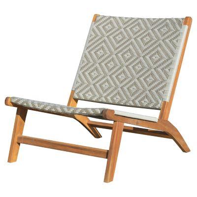Cadeira para Varanda de Madeira Bege e Branco