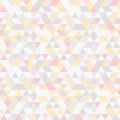 Papel de Parede Triângulos Rosa