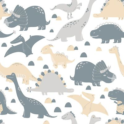 Papel de Parede Dinossauro Cinza