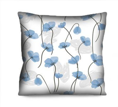 Almofada Microf Flor Azul 42x42 cm