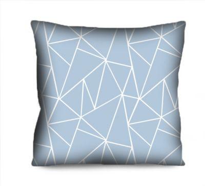 Almofada Microf Geométrico Linhas Azul 42x42 cm