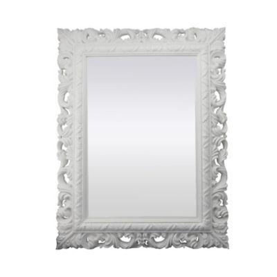 Espelho Retangular Rocco Branco 51X66 cm