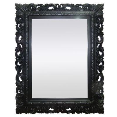 Espelho Retangular Rocco Preto 51X66 cm