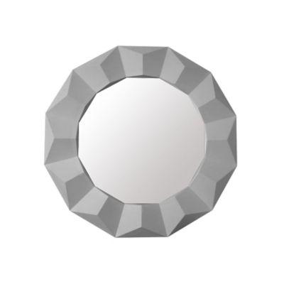 Espelho Redondo Border Branco 61 cm