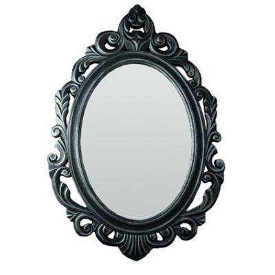 Espelho Oval Baroque Prata 77X52 cm
