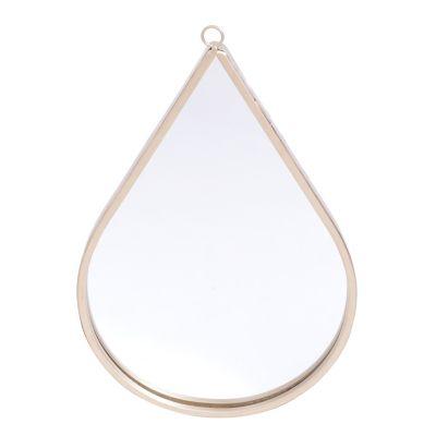 Espelho Parede Metal Drop Shine Frame Dourado 20X1,4X30,5cm