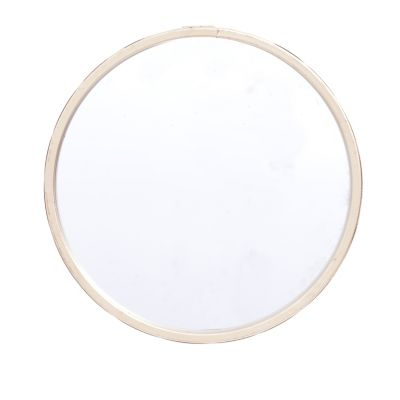Espelho Parede Metal Round Shine Frame Dourado 20X1X20cm