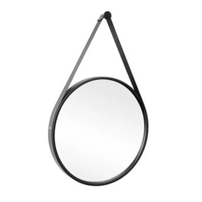 Espelho Adnet Preto Alça Preto 40cm