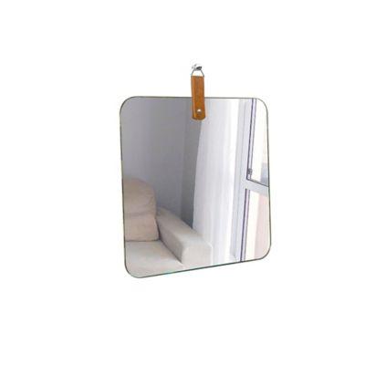 Espelho Deco Life Alça Caramelo 50cm